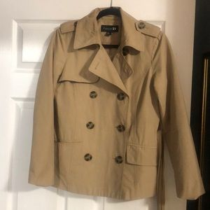 Jackets & Blazers - Cropped trench coat